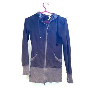 Lululemon sweater dark grey zip up size 2